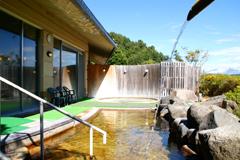 眺望豊かな露天風呂の写真