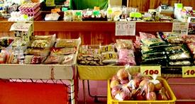 地元特産品販売コーナーの写真